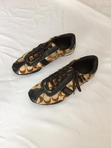 zapatos / tenis coach de mujer medida 25.5 nuevos preciosos