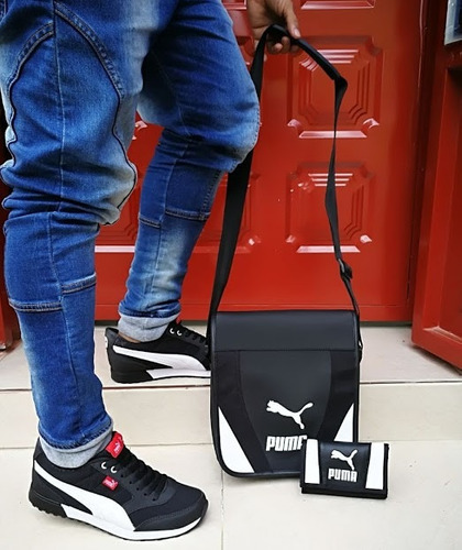 zapatos tenis deportivo hombre +bolso+billeteras combo moda