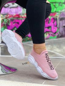 Tenis 2 Deportivos Zapatos Mujer Dama Moschino Envío Gratis L5jqS4Ac3R