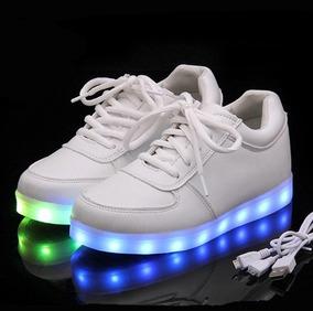 gran venta ca57d 37af0 Zapatos Tenis Luces Led Recargables Usb Unisex
