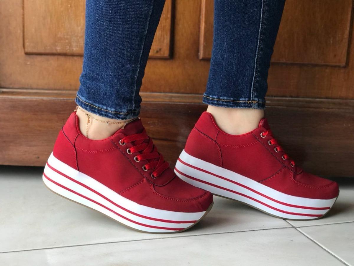 82f321fd1 zapatos tenis para mujer color rojos zapatillas sport dama. Cargando zoom.