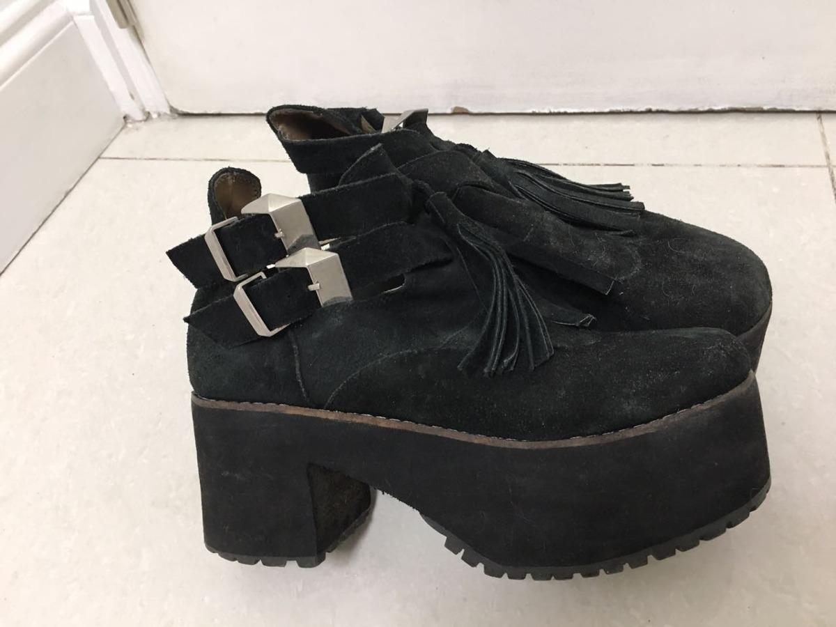 589f6fa7 Zapatos Tipo Bota Negro Confleco 38 - $ 360,00 en Mercado Libre