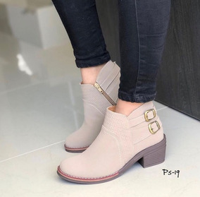 be122822 Botines Tipo Bolicheros De Cuero - Zapatos Mujer en Mercado Libre ...