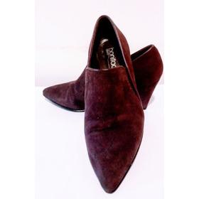 Zapatos Tipo Botinetas Boniface. Gamuza Violeta Talle 36