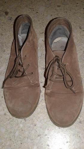 zapatos tipo botita simil gamuza