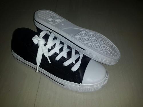 zapatos tipo convers marca tboe negro/blanco tallas 41al 45