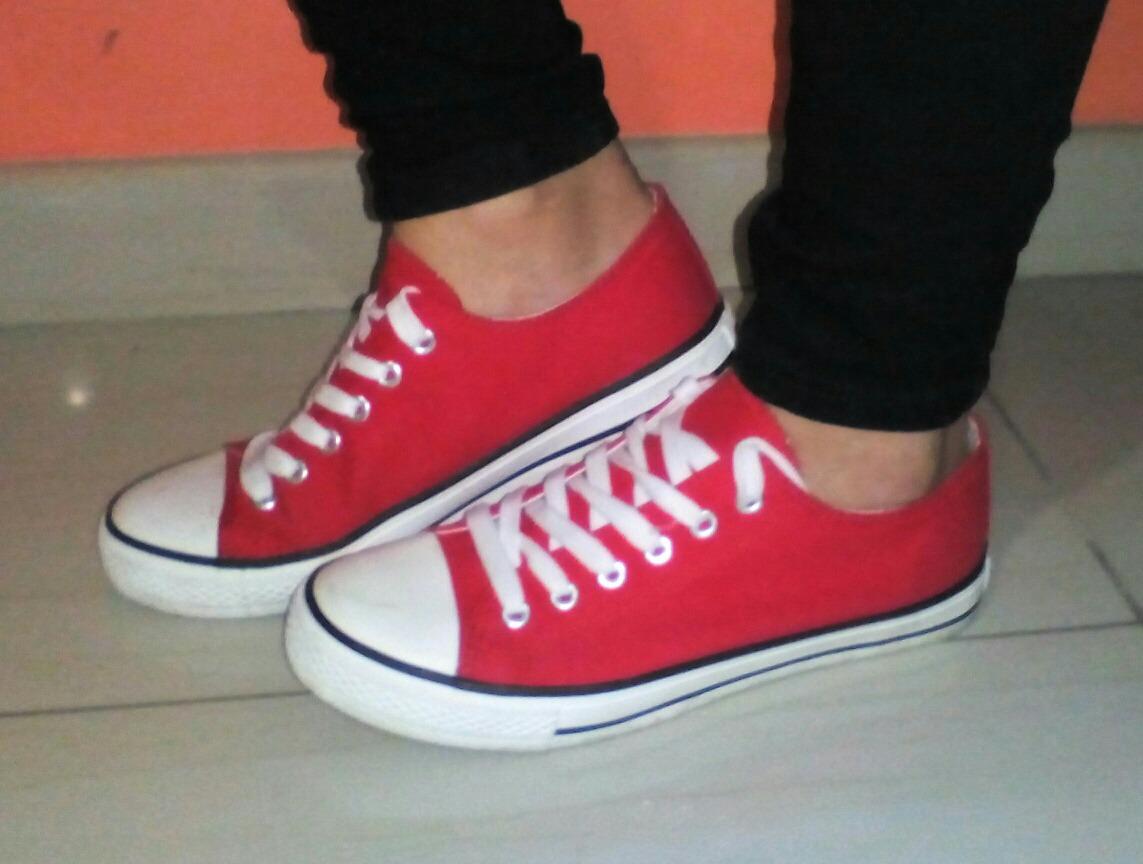 39 Tipo Converse Talla Rojos Zapatos PkZiuTwOX