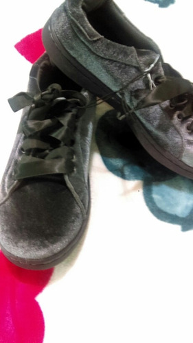 zapatos tipo converse terciopelo gamuza talla39botas