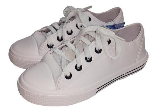 zapatos tipo konvers blancos unisex material plastico