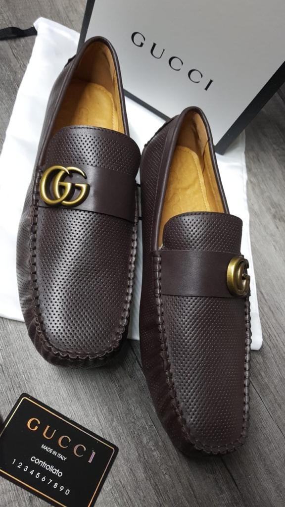 09fef53d zapatos tipo mocasines gucci de piel caballero cafe obscuro. Cargando zoom.
