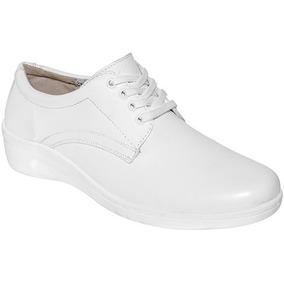 Zapatos Dama Blanco 33987 Trabajo Dtt Oxford Flexi Piel sthQrd