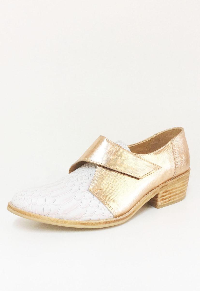 Zapatos Valentina Blanco Cobre Nhj
