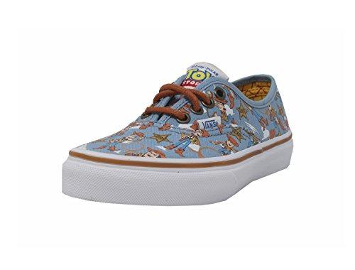7e82a89554332 Zapatos Vans Niños Auténtico Leñoso Azul Disney Pixar Jug ...