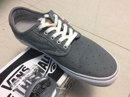 zapatos vans originales de color gris