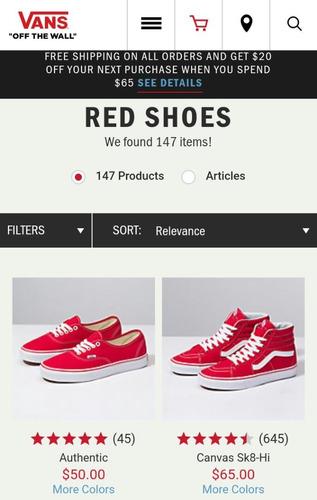 zapatos vans originales rojos y verdes