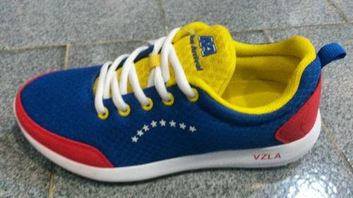 zapatos venezuela tricolor tallas para dama caballero 35-46