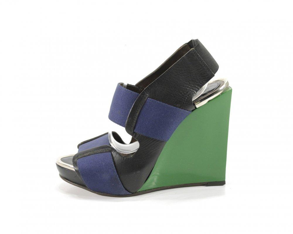 Cargando verdes marni y negro con zapatos azul zoom 84A1d