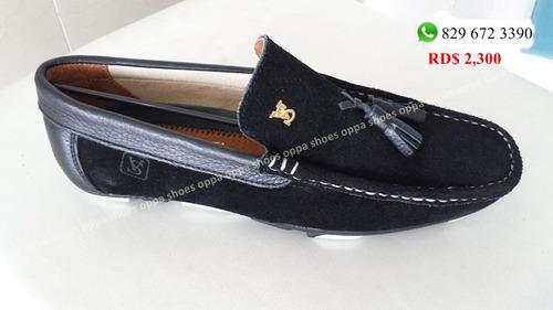zapatos violi salvatory en gamuza
