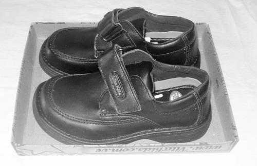 zapatos vita kids escolares negros tallas 27 y  28