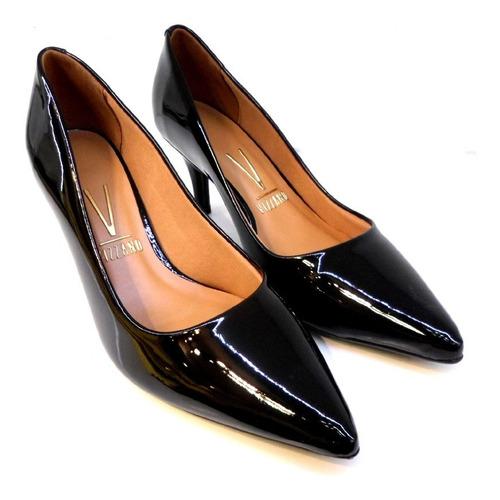 zapatos vizzano stilettos de mujer charol en punta taco 7 cm hot 1185 rimini