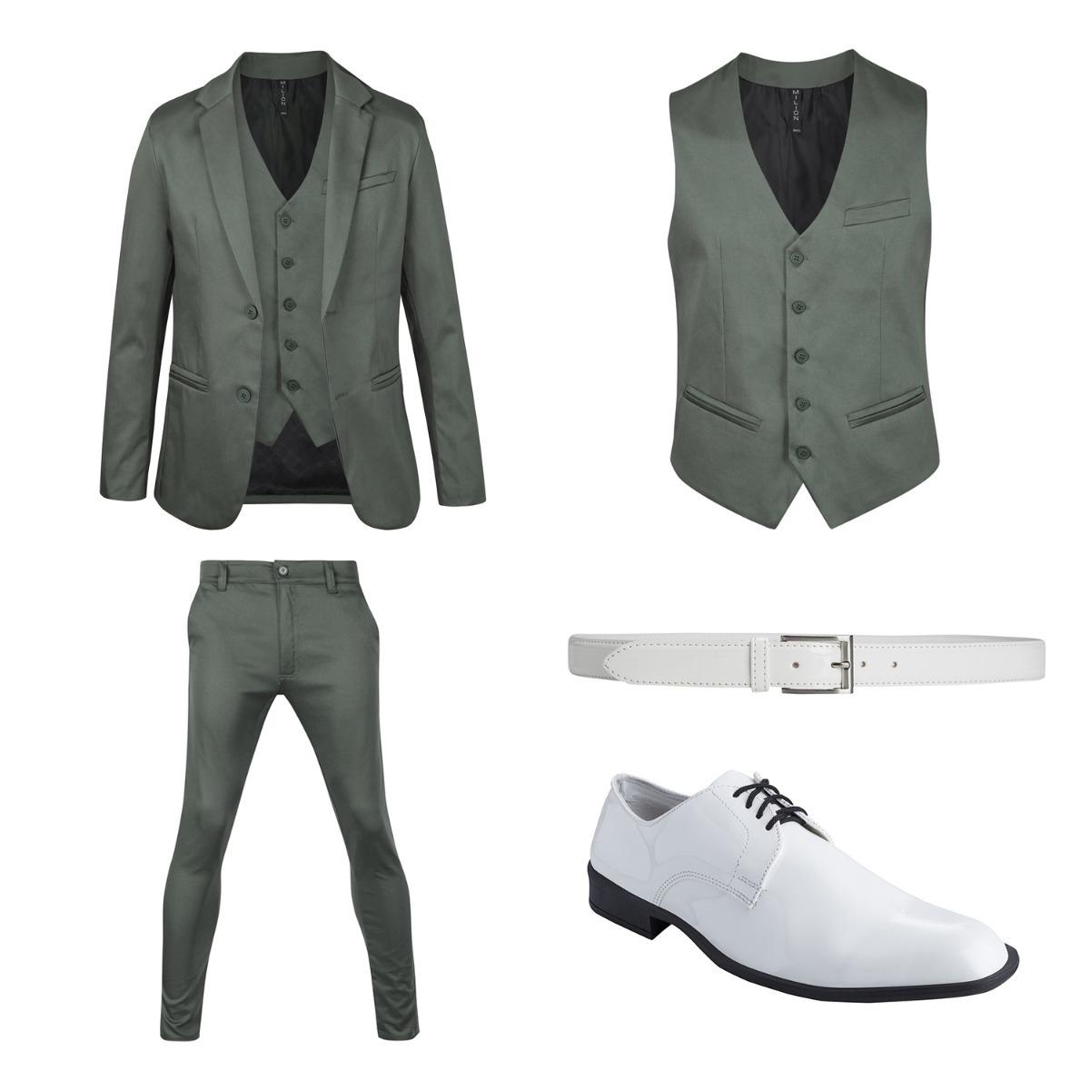 7a1d26658b7e6 zapatos y cinto de vestir con traje satinado slim fit import. Cargando zoom.