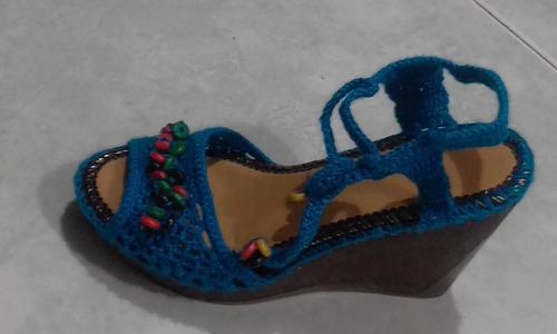 zapatos y sandalias a crochet