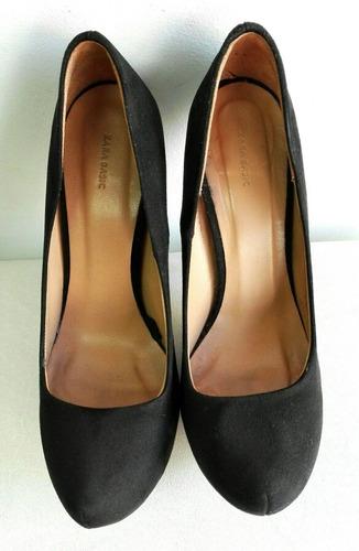 zapatos zara de taco alta y plataforma número 36
