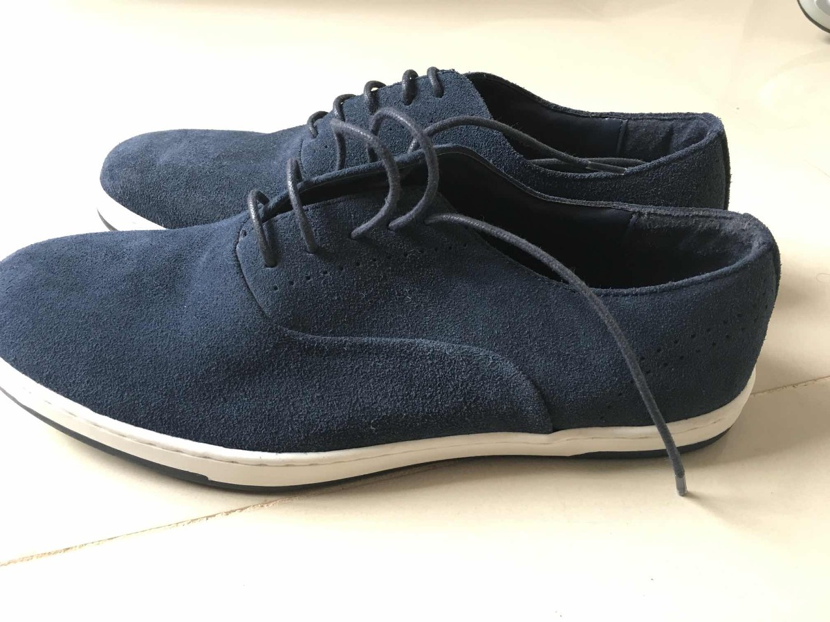 Nuevos Mercado Zapatos 950 Gamuzado Man zara 00 Azul Libre En rEEx68n