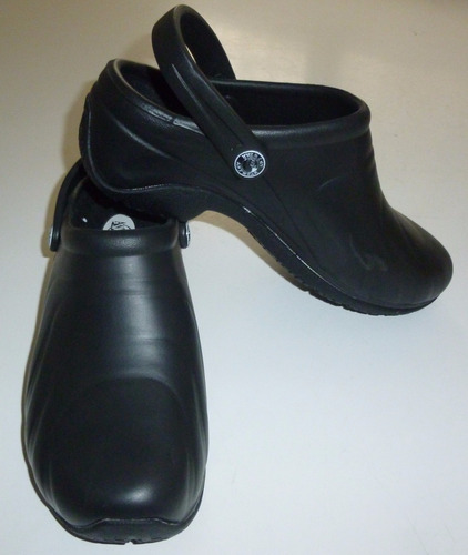 zapatos zuecos importados anywear negros talla 37