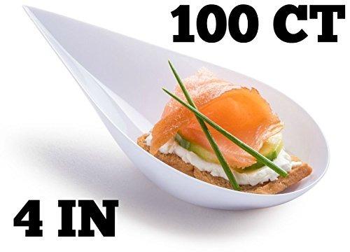 zappy 100 tear drop mini platos de aperitivo