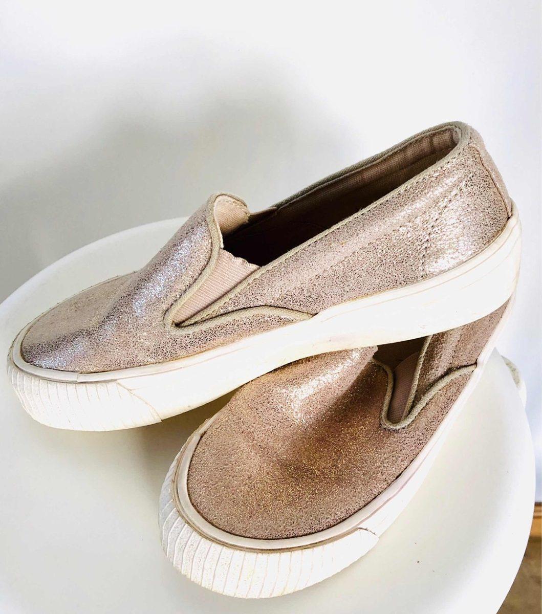 mejor sitio web 88b6e ea525 Zara Girls Panchas Zapatillas Alpargatas Nena Niña Dorada 34 - $ 750,00