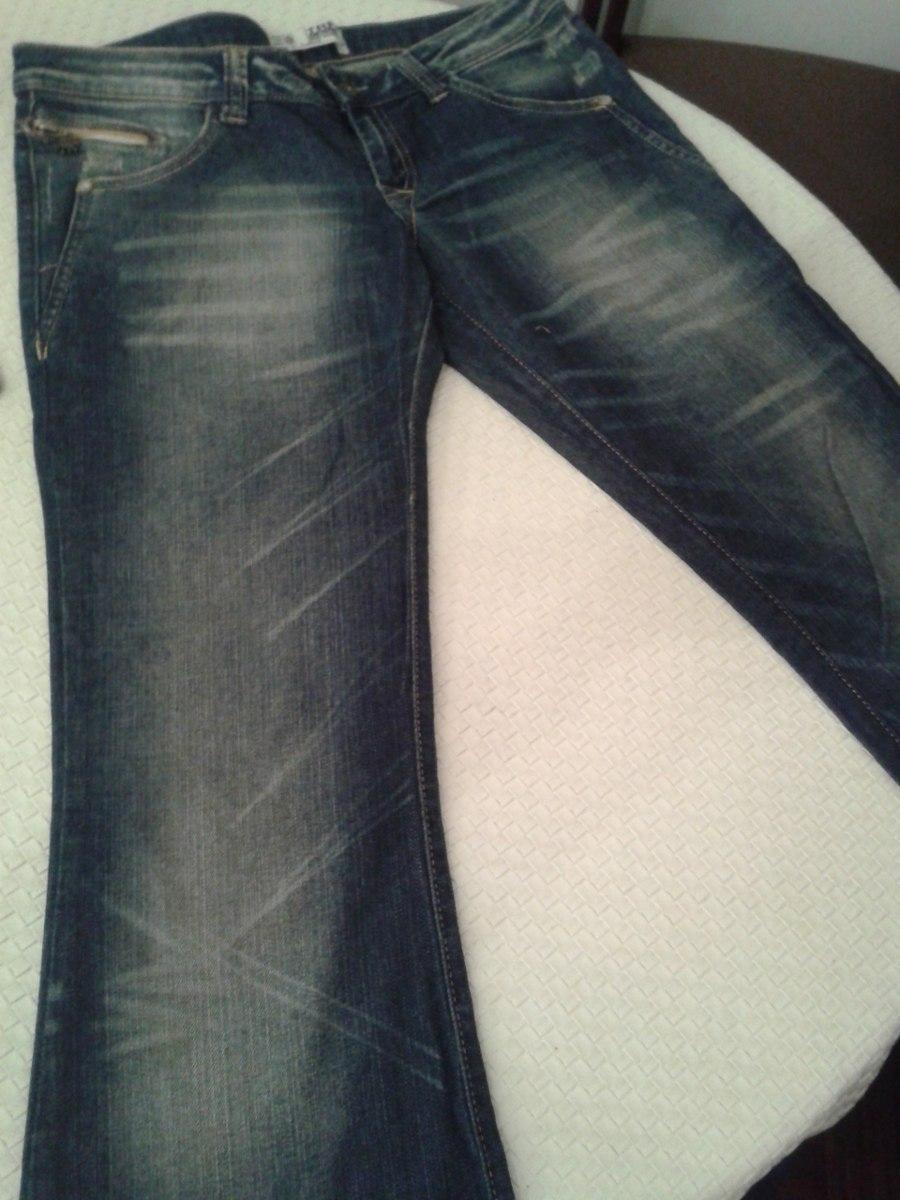 Zara Jean Mujer Botamanga Ancha Trf Desgastado Sectorizado $ 499,00