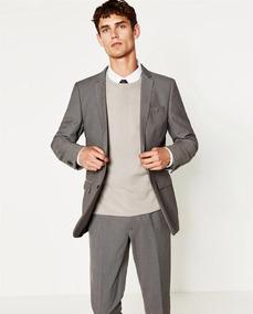 a67a47682 Zara Man Saco Blazer Slim Fit Pull Bear Bershka