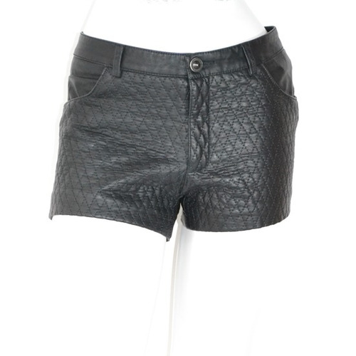 zara shorts faux leather m