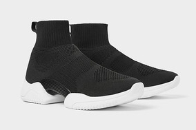 original de costura caliente imágenes detalladas zapatillas de skate Zara Sneaker Speed Trainer