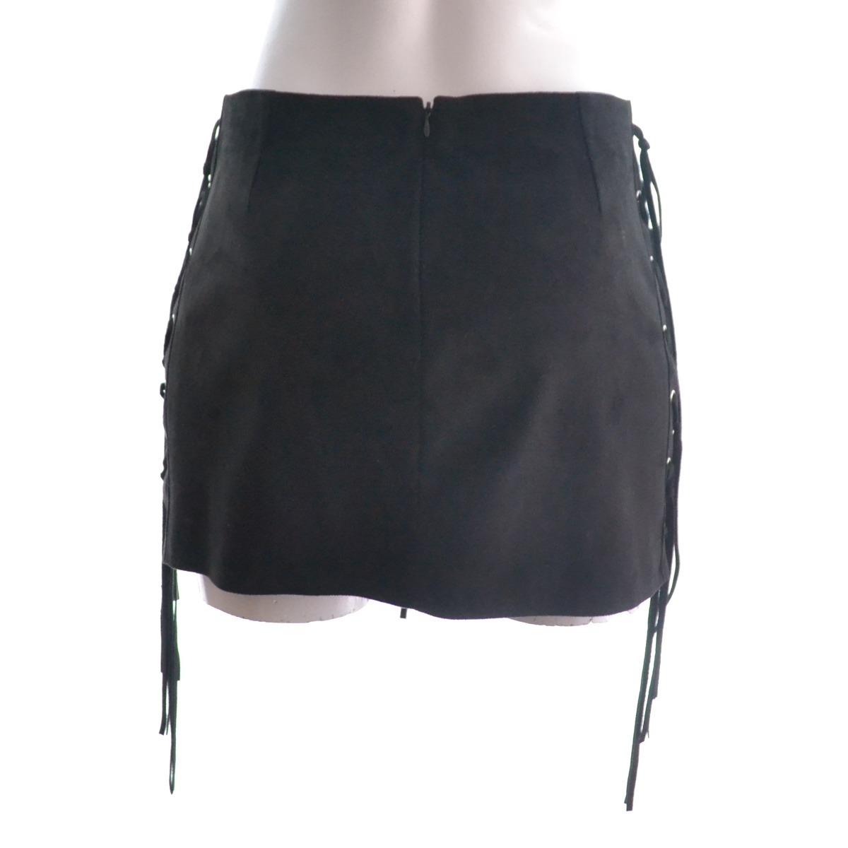 69a8d7bac Zara Woman Mini Falda Negra Tipo Gamusa Xs Msrp$500 - $ 332.00