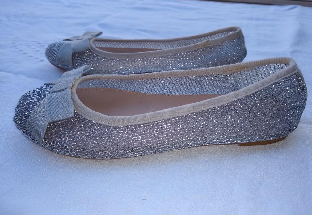 Chatitas Postura 33 Nro Plateados Zapatos 420 1 Zara De Niña 5x88XS
