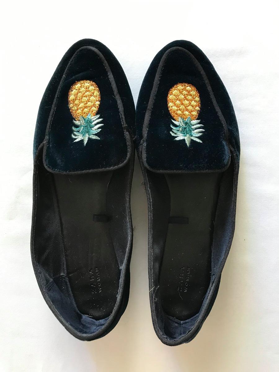 En Zapatos Azul Mujer 00 37 Zara Talle 470 Oscuro Chatos RSwxq1qz