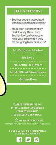 zarbee natural. jarabe para la tos + alivio de moco con miel