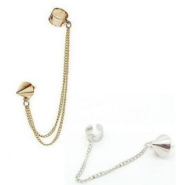 zarcillo solitario ear cuff trepadores accesorio moda spike