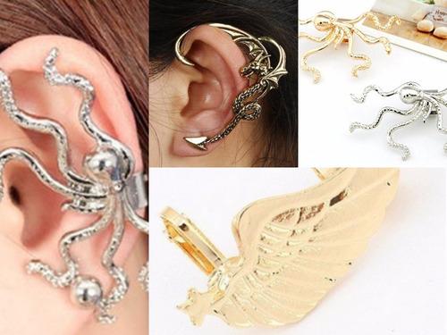 zarcillo solitario ear cuff trepadores accesorios moda