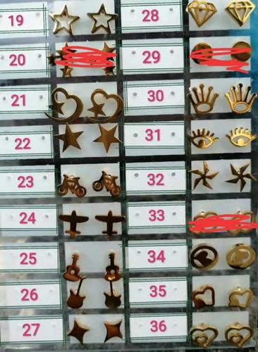 zarcillos acero inoxidable precio al mayor (2.700 bs)  c/par