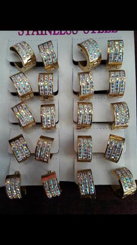 zarcillos aros oro chino al mayor y detal
