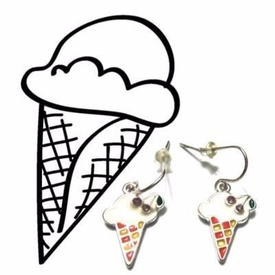 zarcillos con diseño de helado sundae fiesta regalo moda