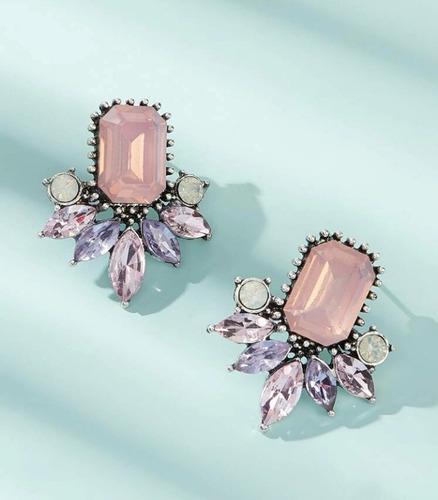 zarcillos con piedras preciosas artificiales