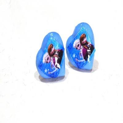 zarcillos de frozen 1d violetta pepa sofia cotillon