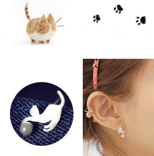 zarcillos de gato moda look fashion regalo felino calado