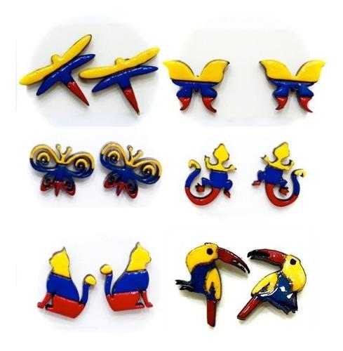 zarcillos de moda lleva la bandera de venezuela fashion moda
