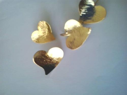 zarcillos de orfebrería con baño de oro