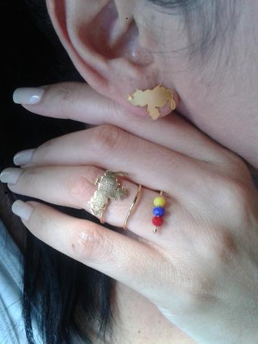 zarcillos de orfebreria venezuela con baño de oro